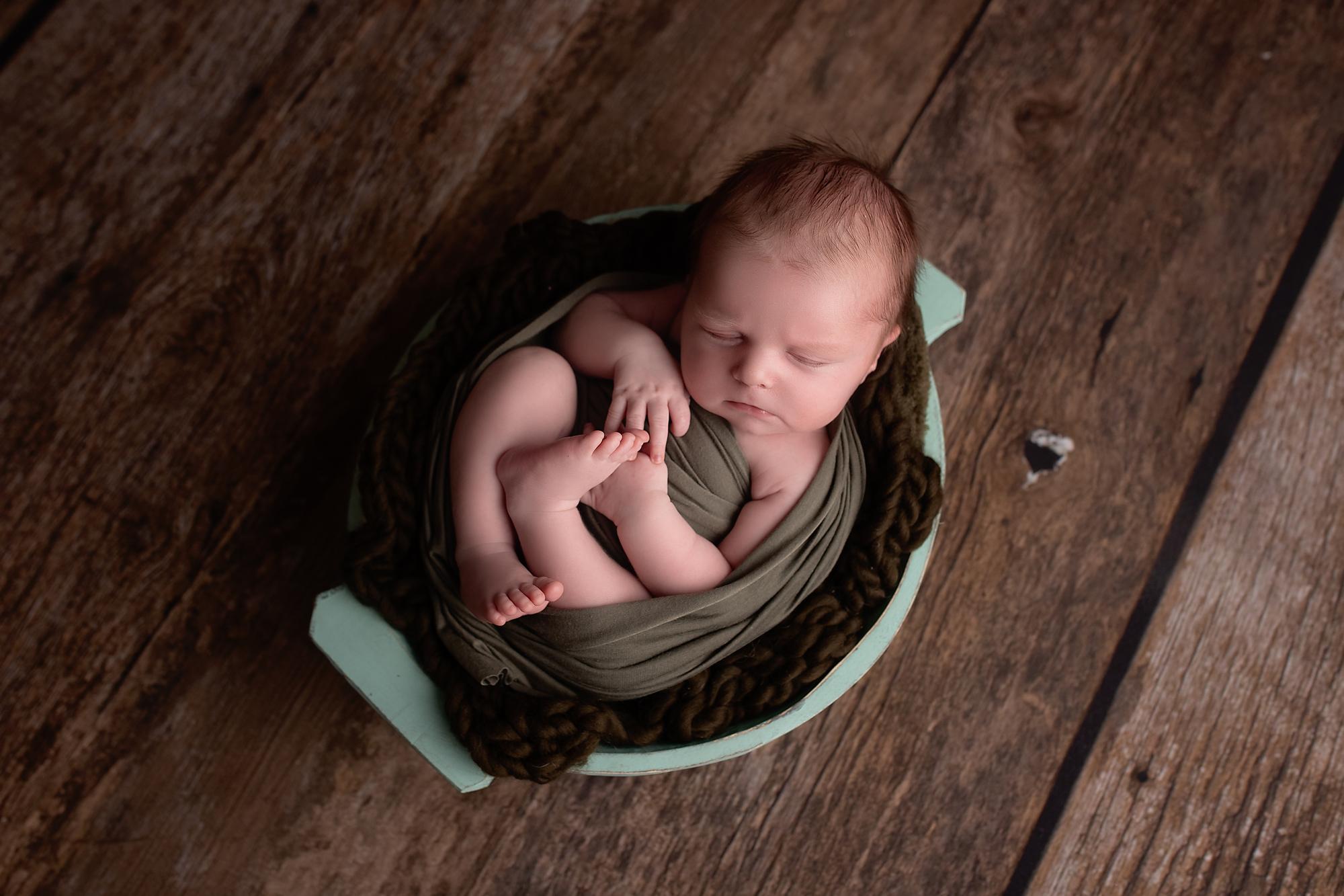Newborn photo of baby Winston