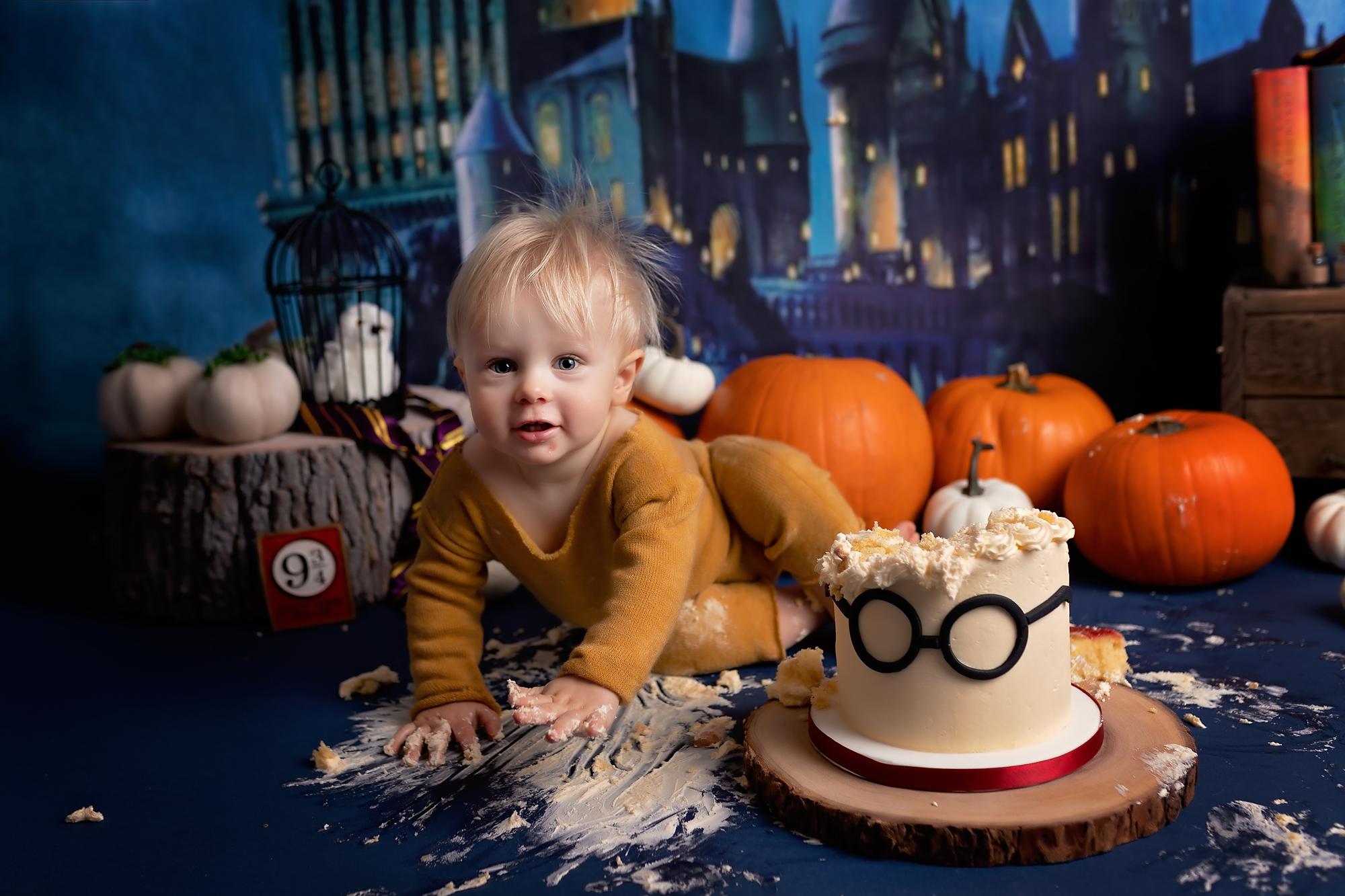 Harry Potter cake smash session in York